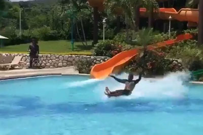 The Greatest Water Slide Move You'll Ever See