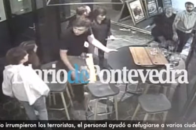 CCTV Footage Of A Restaurant Barricading Themselves From The London Attackers