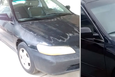 Girl Paints Her Car With Spray Paint, And Results Are Amazing
