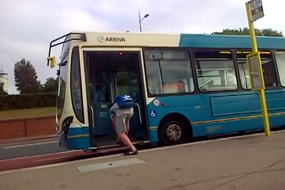 Kid Stops Bus To Tie His Shoelaces, Then Gets What He Deserves