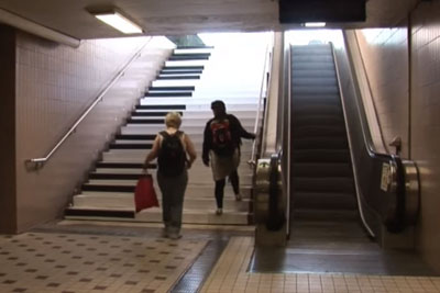 Would You Still Use The Escalator If Those Stairs Would Be Next To It?