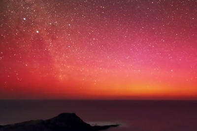 Incredible Video Shows The Stunning Southern Lights