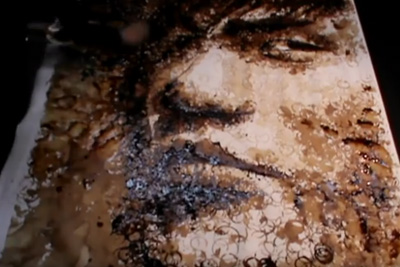 Coffee Mug Stains Turned Into Amazing Portrait