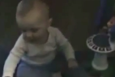 Baby Scared By His Own Fart