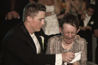 Mother Can No Longer Walk For Wedding Dance, Groom's Solution Make His Bride Weep