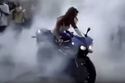 360 Burnout By A Girl
