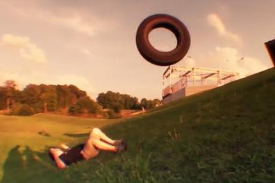 18-Wheeler Tractor Trailer Tire Nutshot