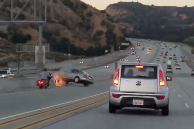 Road Rage Between Motorcyclist And Driver In Santa Clarita Ends In A Dissaster