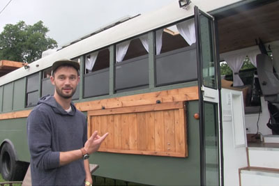 He Transformed An Old Bus Into Spectacular Home, Just Wait You See Inside