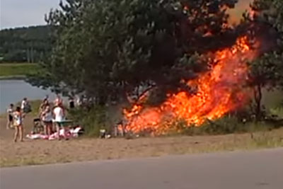 Barbecue Goes Wrong In Nature, This Is How Fast Fire Can Happen