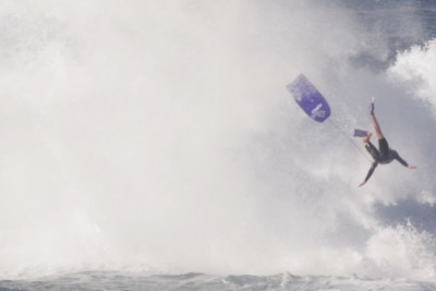 Big Wave Catapults Boarder 20Ft In The Air, Leaving His With A Burst Lung