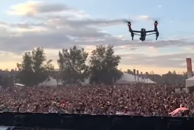 Operator Learns The Hard Way Why You Shouldn't Fly Drones At Music Festivals