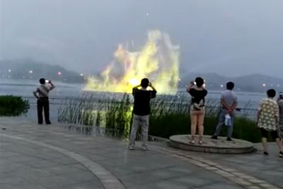 Crazy Hologram Fountain In China, That Will Blow Your Mind Away