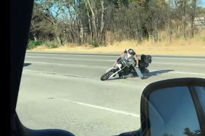 Unprotected Motorcyclist Falls Hard On The Highway In Sacramento After Losing Control