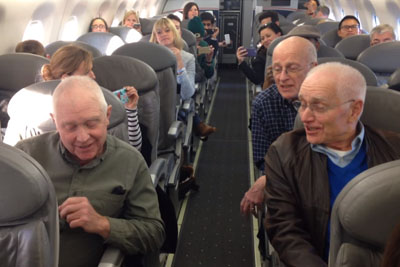 Angry Passengers Wait For Their Delayed Flight, Then 4 Old Men Craft Plan To Lift Their Spirits