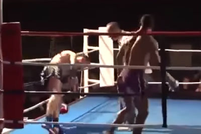 Muay Thai Fighter Delivers The Most Outrageous Knockout You Will Ever See