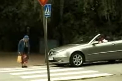 Rude Man Honks At Old Woman Crossing Walkway, Her Revenge Is Brilliant