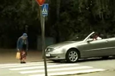 Rude Man Honks At Old Woman Crossing Walkway, Her Revenge Is Brilliant