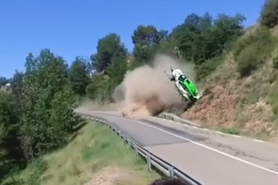 Terrible Crash At Osona WRC Rally, Fans Captured Everything On Camera