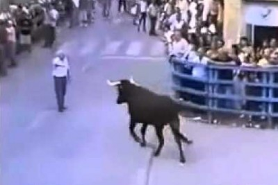 They Were Messing With This Bull. When Old Man Stepped Infront Of Him, Everyone Was Silenced