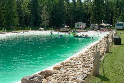 Man Builds A Big 1,200,000 Litre Backyard Pool, And It's Really Magnificent