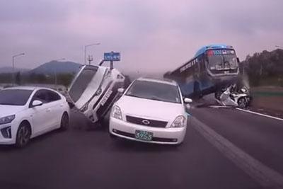VIDEO: Brutal Pile Up On Highway In South Korea Captured On Dashcam