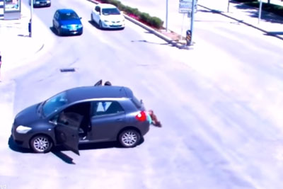 Baby Falls Out Of The Car In Turkey, Then Almost Disaster Happens