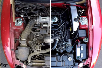 This Is How You Super Clean Your Engine Bay In A Car