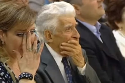 90-Year Old Composer Bursts In Tears Listening To His Composition Being Performed By A Chorus
