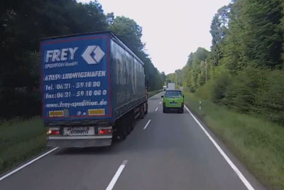 WATCH: Crazy Trucker Overtakes In Most Dangerous Way, Almost Collides Head On