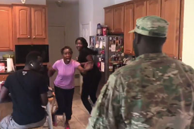 Soldier Returns Home, Surprises His Family In Best Way Possible