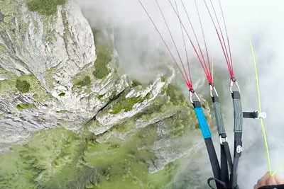 Speedflying Through Fog In Carpathian Mountains, Romania Will Take Your Breath Away