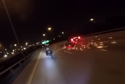 Car Crashes Into Two Motorcycles, Footage Is Really Intense
