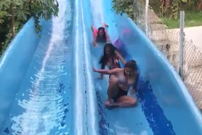 Two Girls Were Having Fun At The Slides, Then Disaster Happened