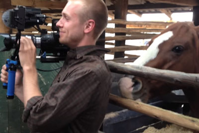 Man Tries Not To Laugh While Filming, Horse's Next Move Has People Crying With Laughter