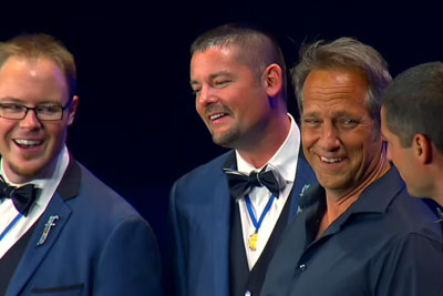 Audience Skeptical As Mike Rowe Joins Barbershop, Then He Opens His Mouth And They Lose It