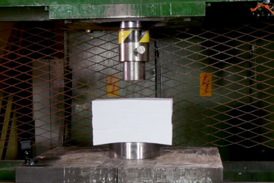 This Happens If You Crush 1500 Sheets Of Paper With Hydraulic Press