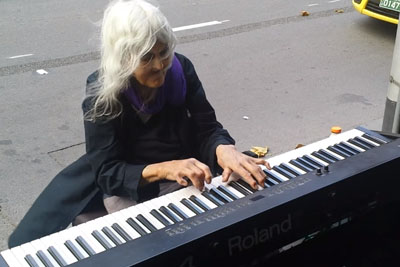 Elderly Woman Sits Down To Play Street Piano, And It Sounds Straight From Heaven