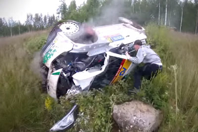 Spectator Captures Dramatic Moments With His Head Cam On Rally Finland