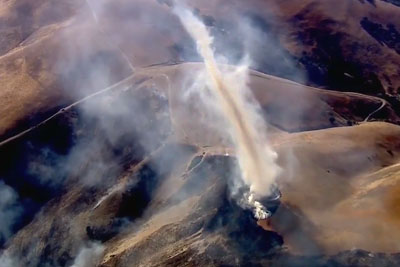 Incredible Aerial Video Of Phenomenon Caused During Fire In California