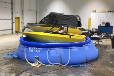Wife Was Tired Of Drunken Idiots With A Boat In Small Pool, Then This Happened