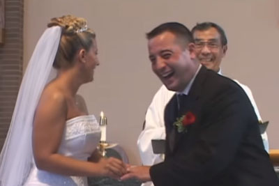 Bride And Groom Burst Into Tears Of Laughter On Their Wedding, This Happened To A Best Man