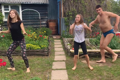 Daughters Show Their Dance Talent, Then Dad Steals All The Show
