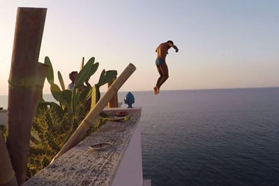 This Jumps Will Take Your Breath Away. Would You Jump Off That Bulding?