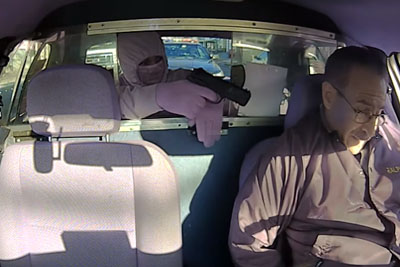 Armed Robber Tries To Rob A Taxi, Then A Moment Of Instant Justice Follows