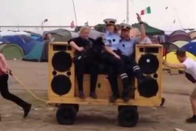 "Danish Police Steal Whole Show On Festival With A Help Of ""Sound Of Da Police"""