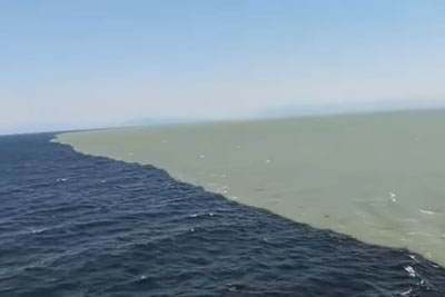 Rare View Of Atlantic And Pacific Ocean Meet At One Point