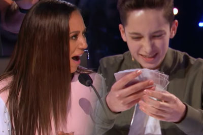 Young Magician Performs Unbelievable Card Trick And Leaves AGT Judges Speechless