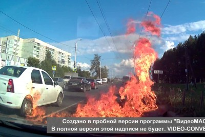 This Is How Fast Motorcycle Can Catch On Fire After The Crash