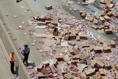 Massive Pizza Spill Shuts Freeway In Arkansas